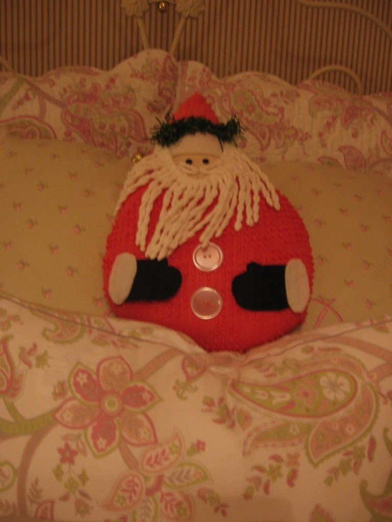 Santa Pillow (made by my talented aunt)