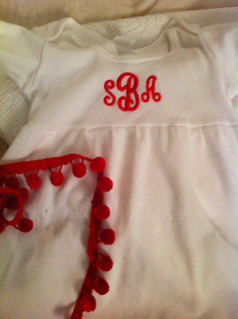 monogrammed white dress toddler