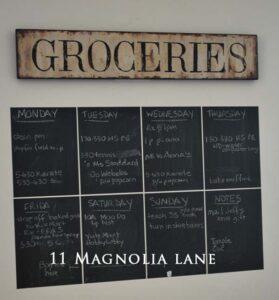 calendar chalkboard wallies