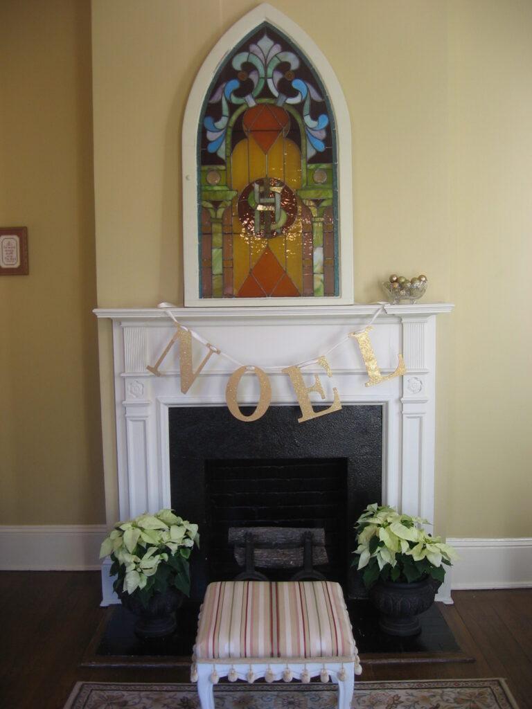 Living Room Mantel 1