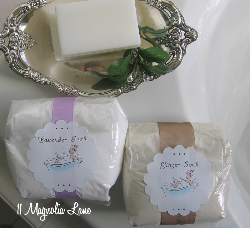 Homemade Lavender and Ginger Bath Salts