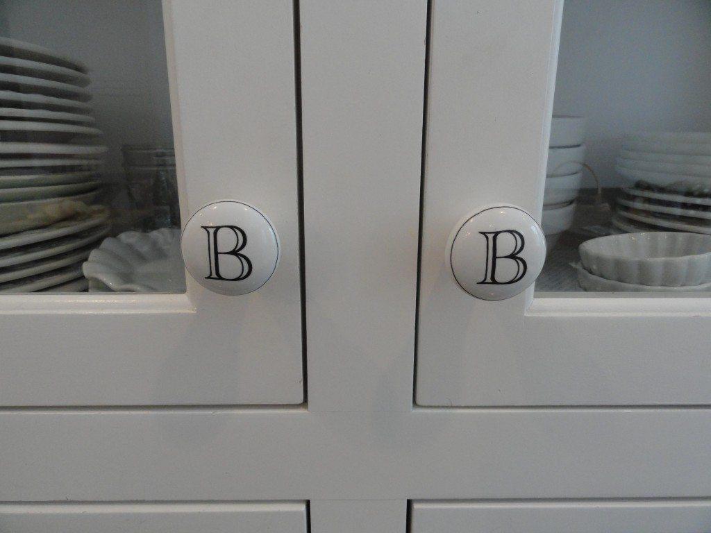 Monogrammed cabinet knobs