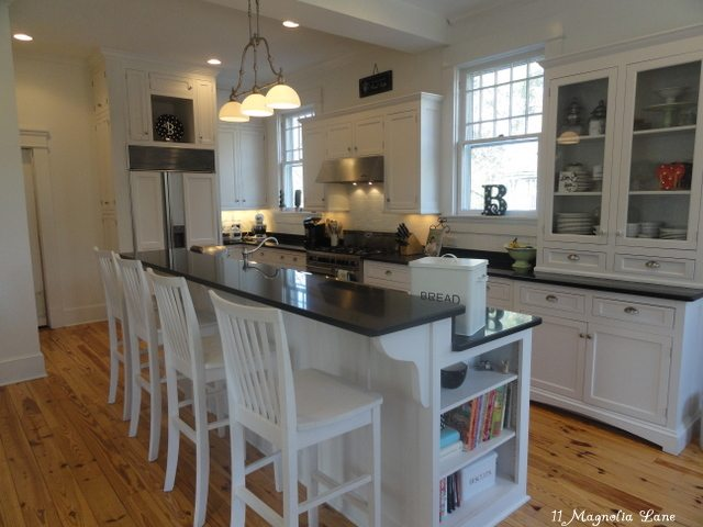 white vintage farmhouse kitchen