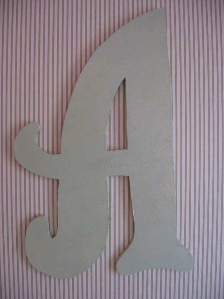 ..and this cool wood initial is also celery.