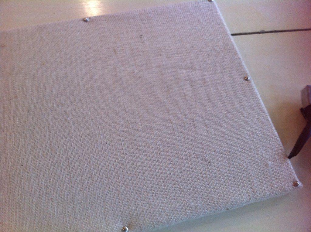 lining up upholstery tacks