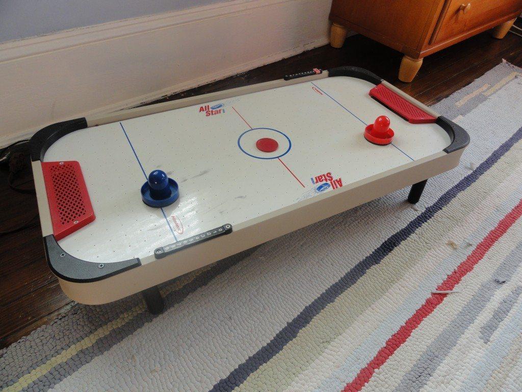 tabletop air hockey table