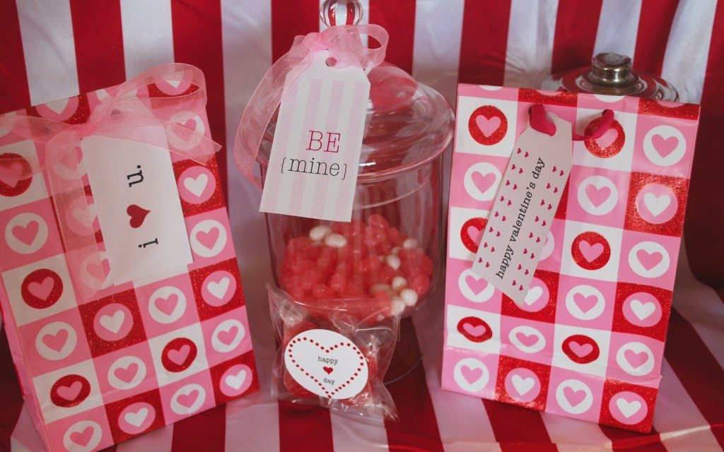 Valentine's Day printable gift tags