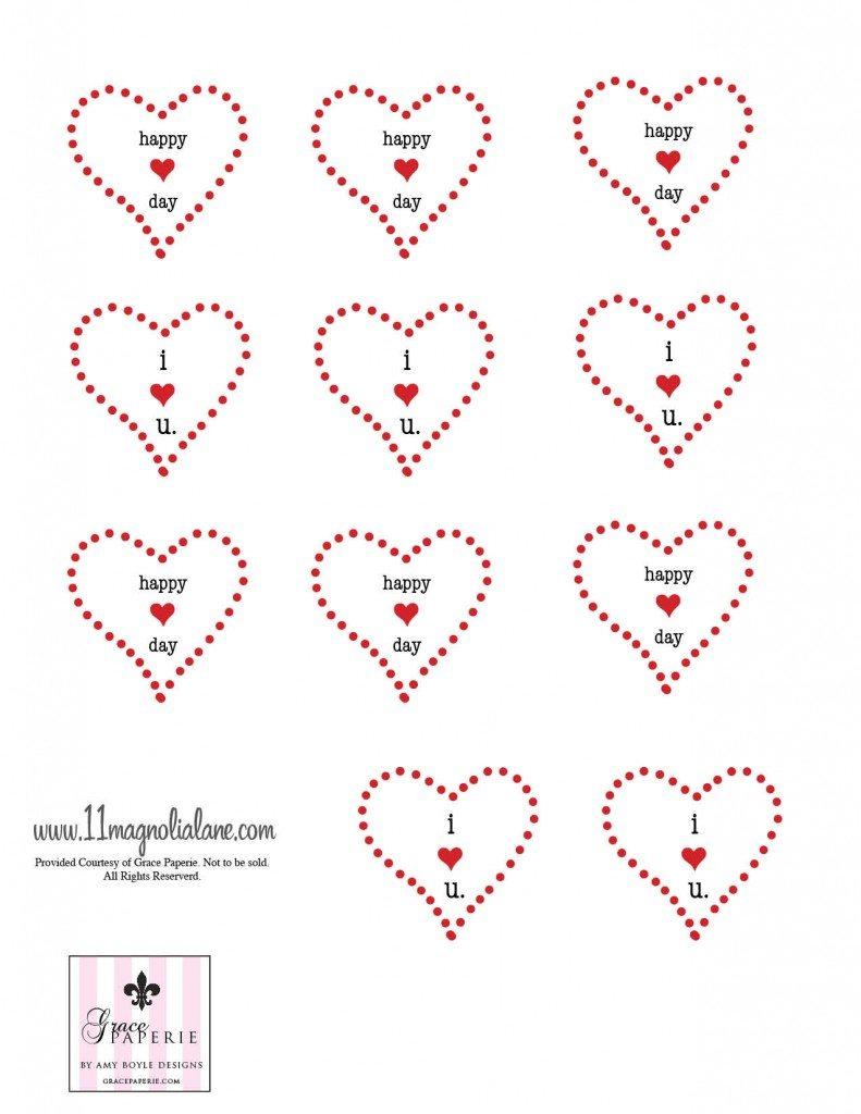 Red Valentines Printable 1
