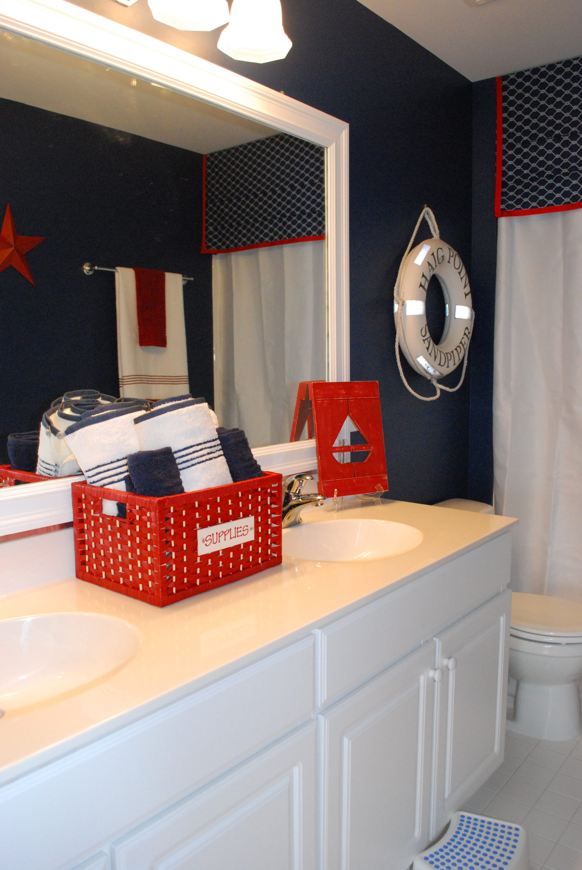 red white and blue bathroom accessories nautical 11 magnolia 25706
