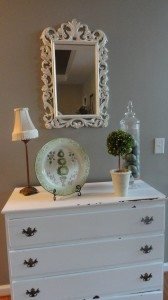 thrift store mirror painted white