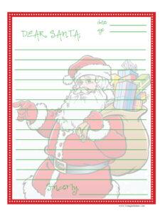 free printable dear santa letter, letter to santa printable