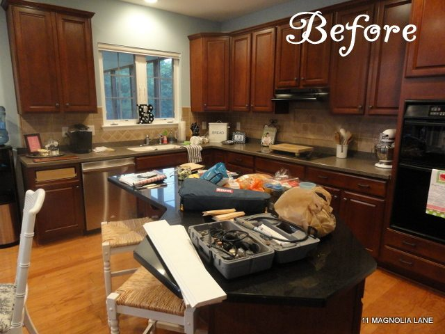 Save & Kitchen redo with white painted cabinets and tile backplash | 11 ...