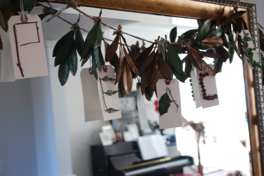 Peace garland/ banner made from natural elements