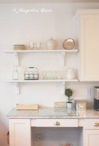 installing open shelves