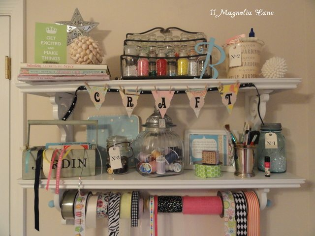 craft area shelves