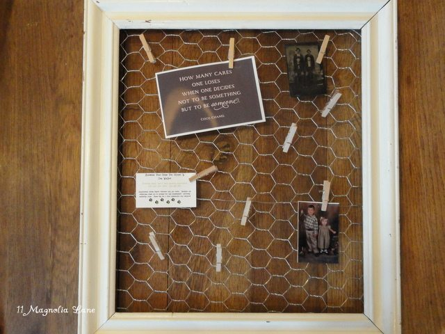 Chicken Wire Display Frames–Farm Chic Decor!