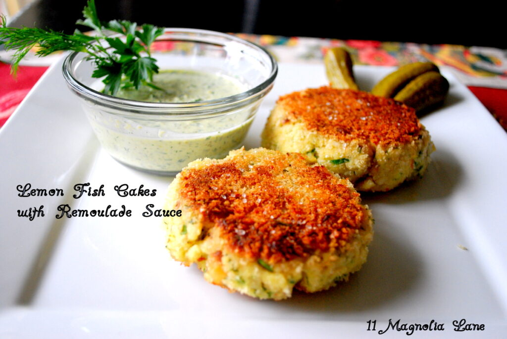 Lemon fish cakes with remoulade sauce recipe