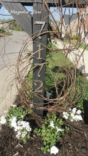 Mailbox Redo Perennials Jasmine Rustic Grapevine Trellis