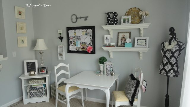 grey white pink master bedroom sitting room