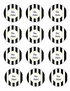 Free printable black sharp mustard recipe labels