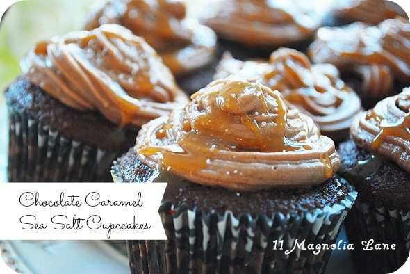 chocolate caramel sea salt cupcakes