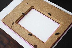 DIY monogrammed picture frame tutorial