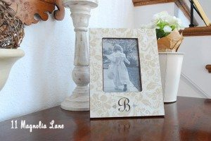 Easy, Knock-off Monogrammed Frames