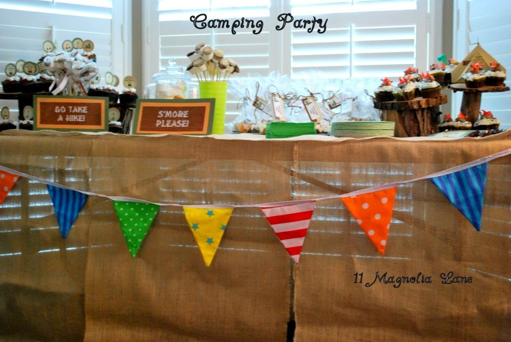 camping party birthday