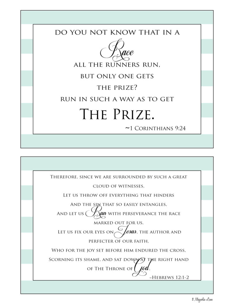 Free Inspirational Printables for Runners