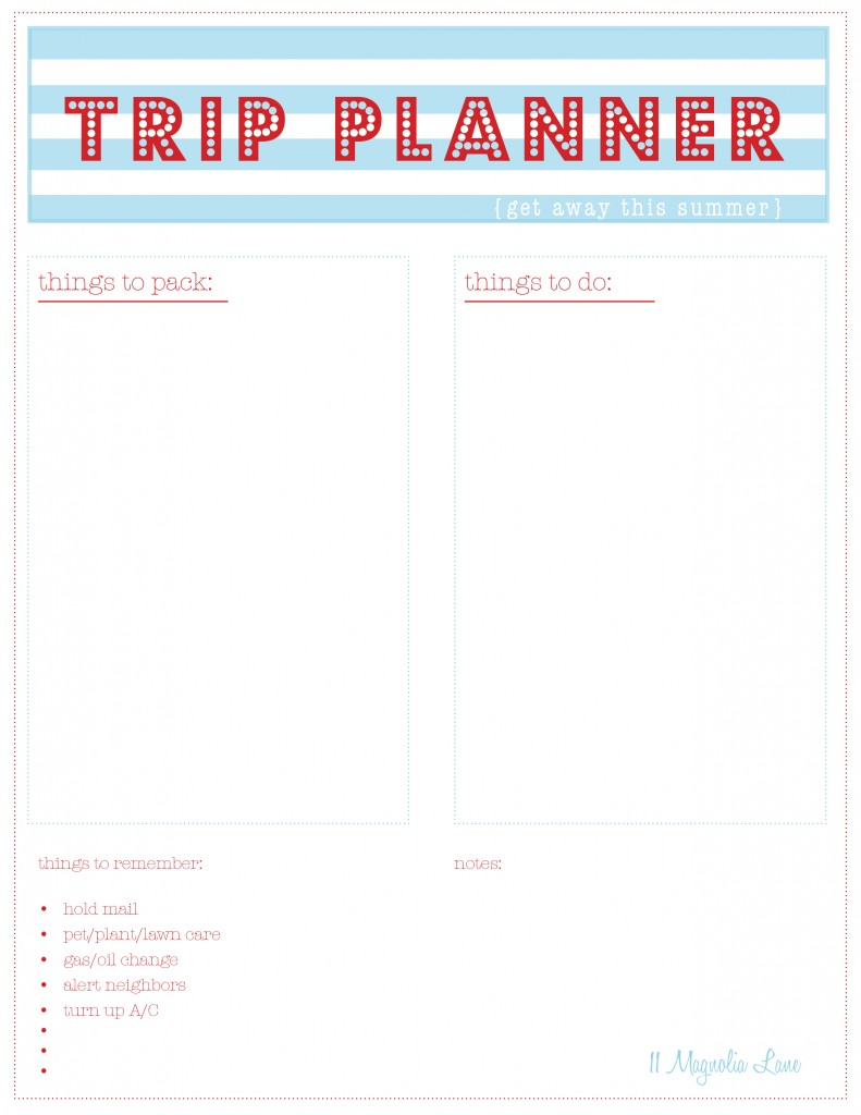 online itinerary planner free