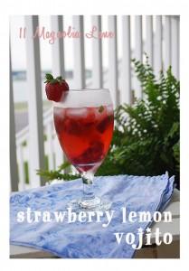 Summer Strawberry Lemon Vojito