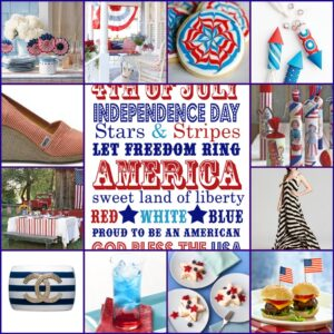 Stars and Stripes Inspiration Board and Summer BBQ Recipes