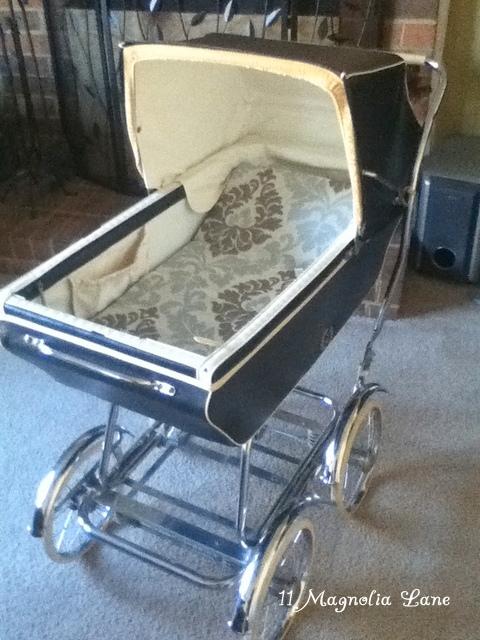 English pram baby carriage
