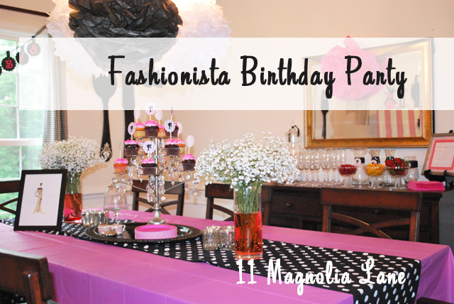 Turning Thirty-Something Fashionista Birthday Party!