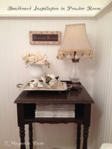 Christy's Powder Room Redo--Just Add Beadboard!