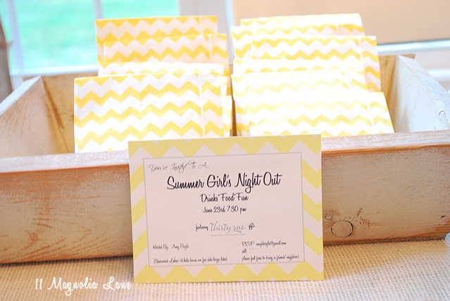 Summer girls night out party invitations