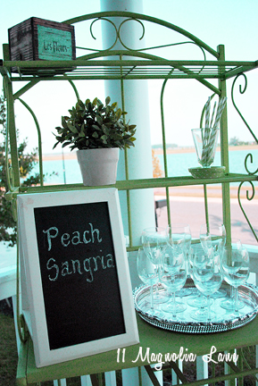 peach sangria bar