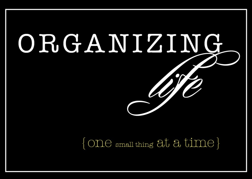 organizing life one step at a time button