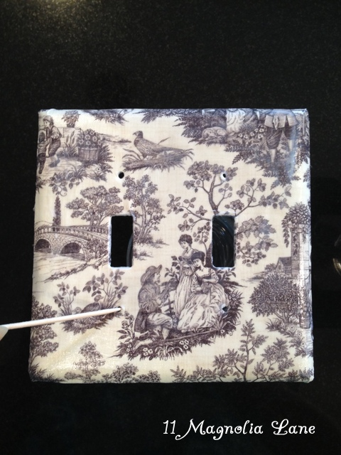 Easy Inexpensive Decoupaged Light Switch And Outlet Covers 11