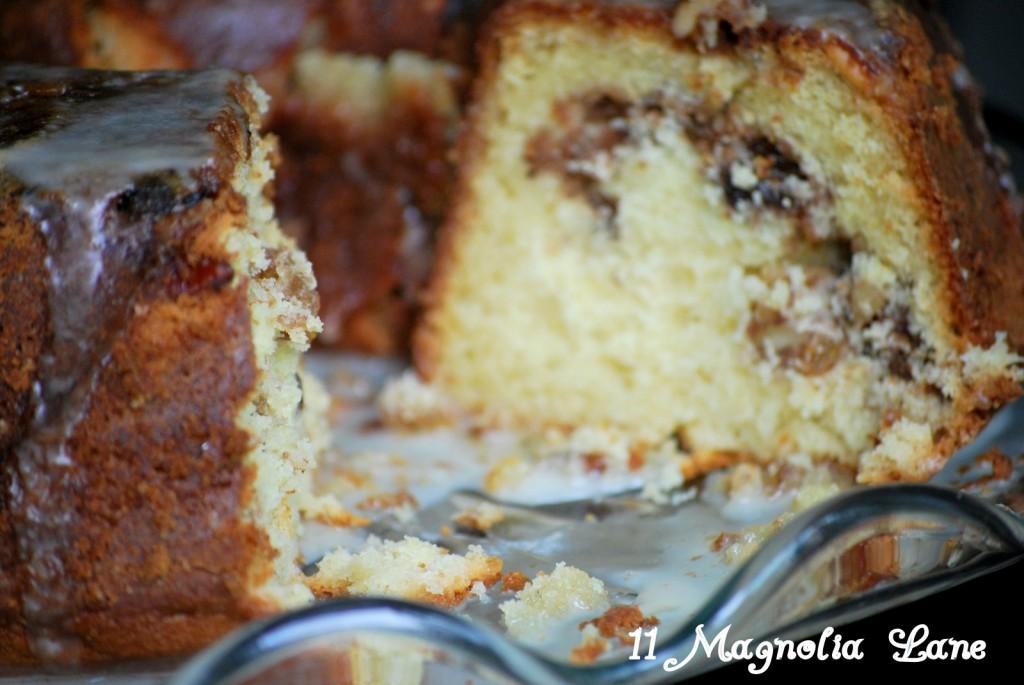 Rum Raisin Sour Cream Coffee Cake Recipe