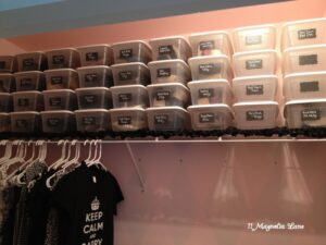 Organize Your Closet with Chalkboard Shoe Labels