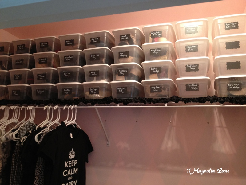 Vinyl Chalkboard Labels Plastic Bins Organize Shoes In
