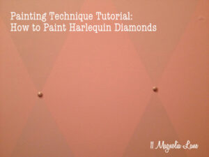 Paint Technique Tutorial: How to Paint Harlequin Diamonds--Closet Redo Part 3