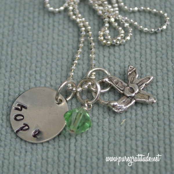 Giveaway: Hand-Stamped Silver Necklace by Pure Gratitude