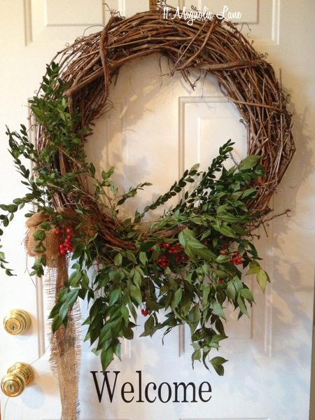 Trash To Treasure Christmas Front Porch Decor 11
