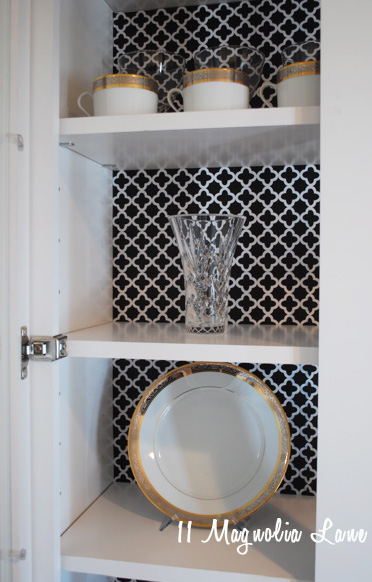 butlers pantry black white