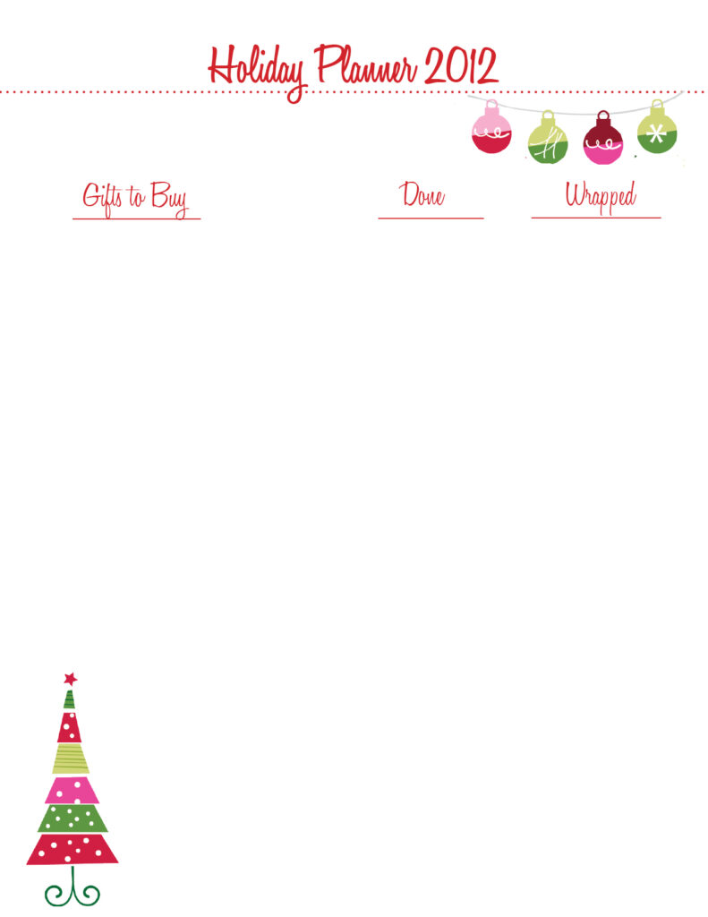 Christmas Organizing {Printables}