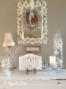 Christmas Vignettes (and My Kitchen and Laundry Room Trees)