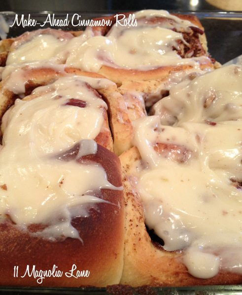 make ahead cinnamon rolls
