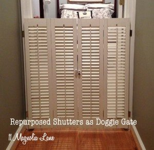 Plantation Shutter Dog Gate
